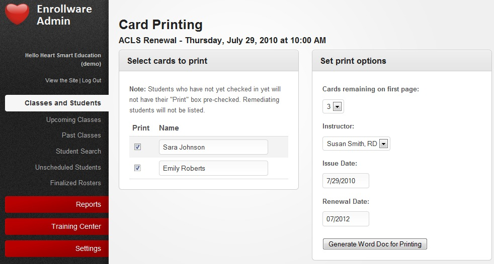 American Heart Association Card Printing Made Easy