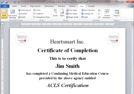 Certificate printing system