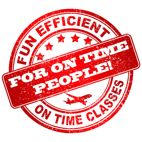 Fun, efficient, on time classes for on time people